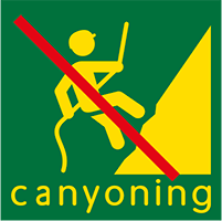 pictogramme : canyoning interdit