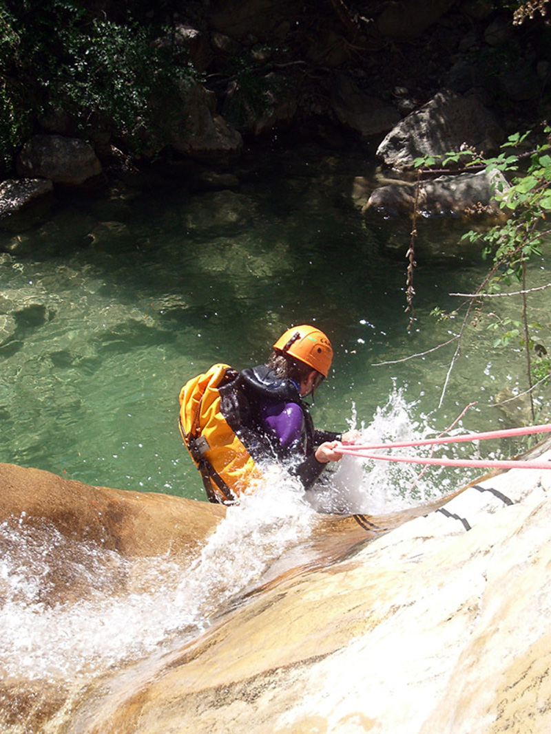 Pratique du canyoning